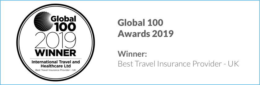 ITHC are the winners of the Global 100 Awards 2019 for Best Travel Insurance Provider - UK
